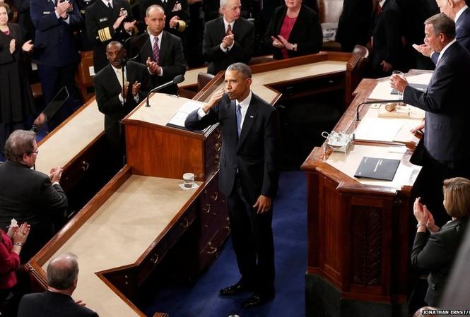 Tổng thống Mỹ Barack Obama tuyên bố nước Mỹ đã khoát khỏi cuộc khủng hoảng tài chính và cam kết đưa ra các chính sách kinh tế mới có lợi cho tất cả người Mỹ.