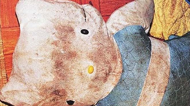 Những kẻ bắt cóc nhét đầu nạn nhân vào thú nhồi bông Hello Kitty. Ảnh: oddityworld