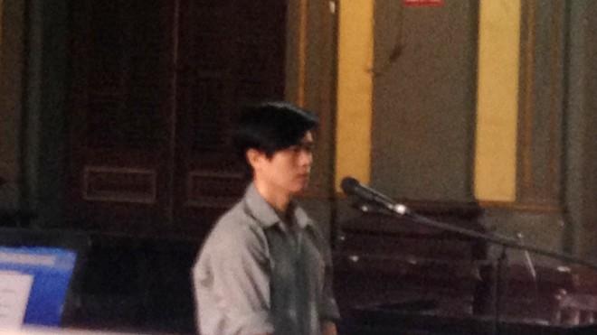 Nguyễn Thế Lam tại phiên tòa ngày 5/10. Ảnh: Tân Châu