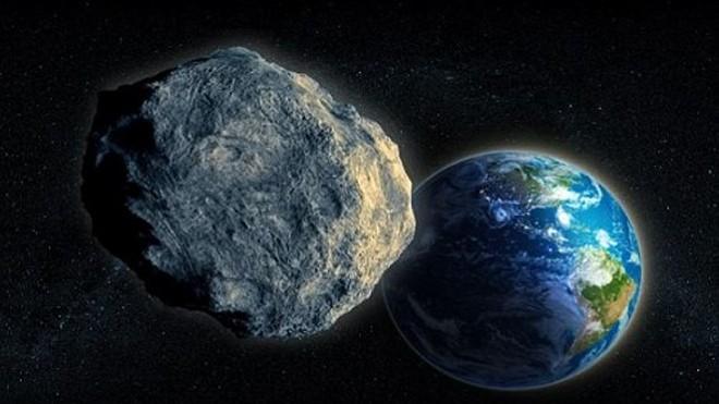 Thiên thạch Asteroid 2000 ET70 có đường kính gần 3,2 km, lớn ngang một quả núi. Ảnh minh họa: Brand X.