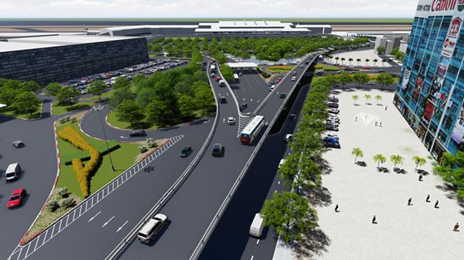Xây hai cầu vượt 'giải vây' cho sân bay Tân Sơn Nhất