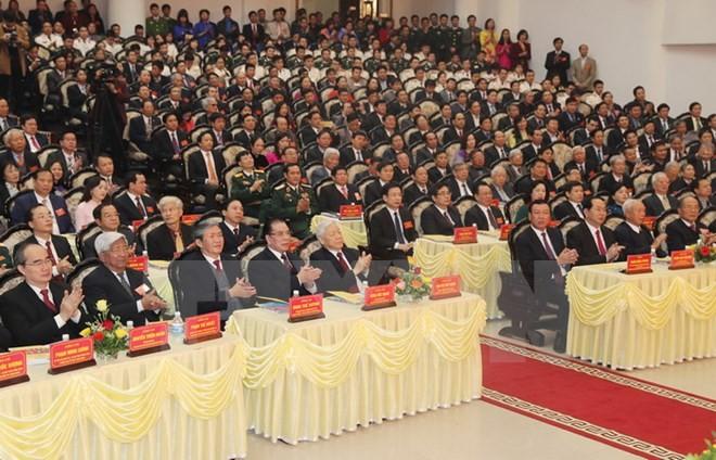 Các đại biểu dự Lễ kỷ niệm. (Ảnh:Trí Dũng/TTXVN)
