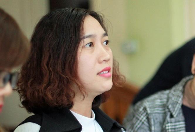 Cô Trần Thị Thu Nhung, giáo viên chủ nhiệm lớp cháu Kiên tại buổi làm việc với báo chí hôm 17/2.