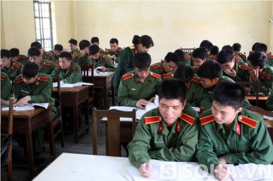 Lưu ý khi dự thi vào khối các trường quân đội