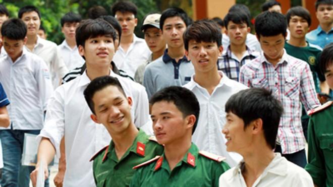 21 trường khối quân đội sẽ tuyển 9000 chỉ tiêu.