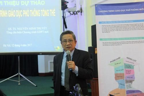 GS Nguyễn Minh Thuyết - Tổng Chủ biên Chương trình giáo dục phổ thông mới.