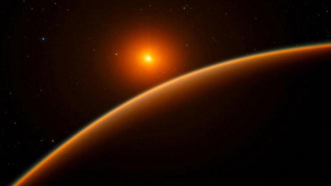 LHS 1140b quay quanh quỹ đạo 1 hành tinh lùn đỏ (Ảnh: The Sun)
