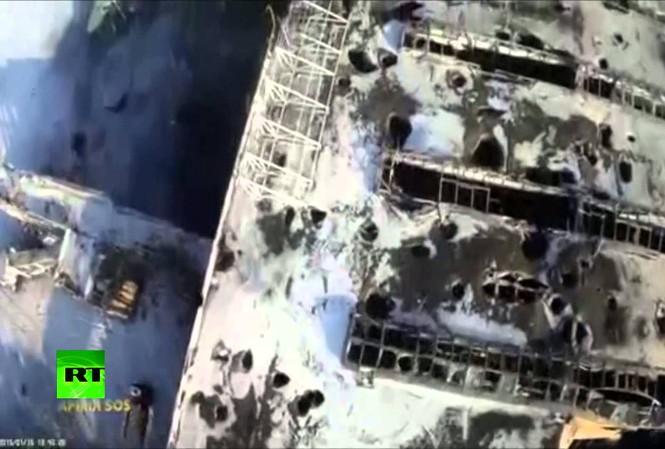 Sân bay Donetsk hé lộ sự tàn phá kinh hoàng do xung đột