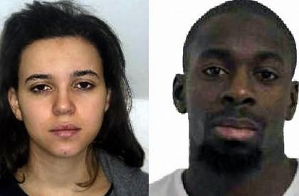 Nữ khủng bố Hayat Boumeddiene và đồng phạm Amedy Coulibaly