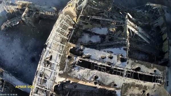 Sân bay quốc tế Donetsk bị phá hủy bởi các cuộc giao tranh.