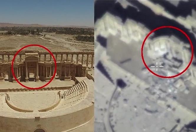 [VIDEO] Nga công bố bằng chứng IS phá hủy thành Palmyra cổ đại
