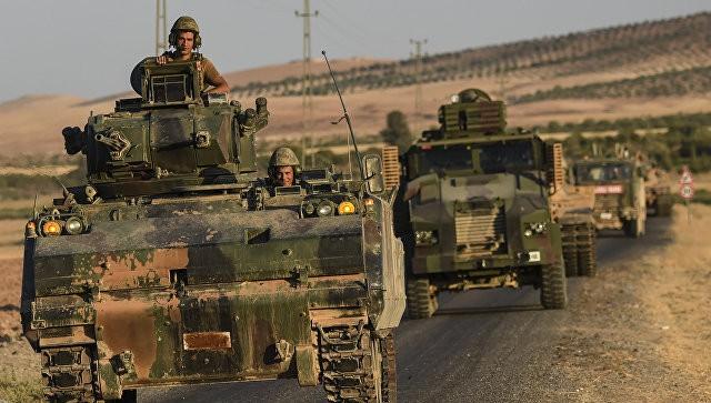 """Quân đội Thổ Nhĩ Kỳ tham gia chiến dịch """"Lá chắn sông Euphrates"""". Ảnh: AFP"""