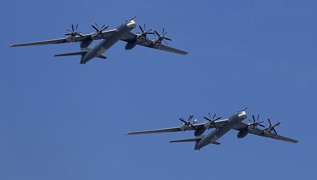 Máy bay ném bom chiến lược Tu-95MS của không quân Nga. Ảnh: RIA Novosti