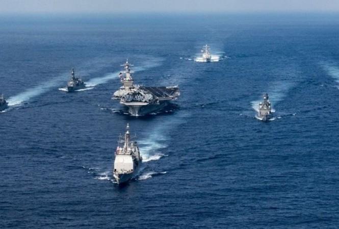Cụm tàu tác chiến sân bay Mỹ đang trên đường tới Tây Thái Bình Dương. Ảnh: US Navy