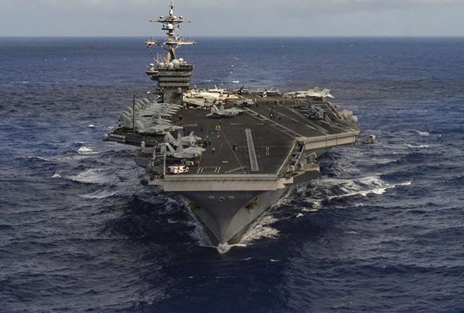 Nhiều dụng ý từ hành động đưa tàu sân bay tới Bán đảo Triều Tiên của Mỹ. Ảnh: US Navy