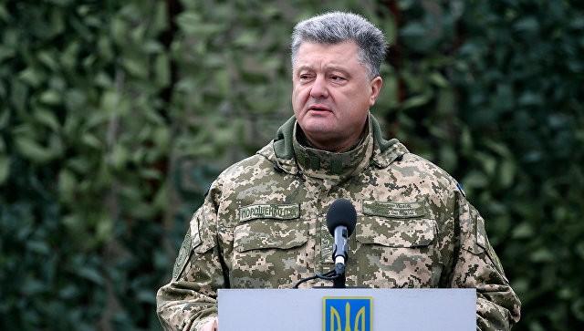 Tổng thống Petro Poroshenko nói miền Đông Nam Ukraine đang diễn ra một cuộc chiến tranh thực sự. Ảnh: RIA Novosti