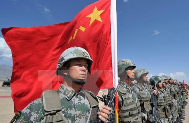 Binh sỹ quân đội Trung Quốc tham gia cuộc tập trận chung tại Balykchy, Kyrgyzstan, ngày 19/9/2016. (Nguồn: AFP/TTXVN)