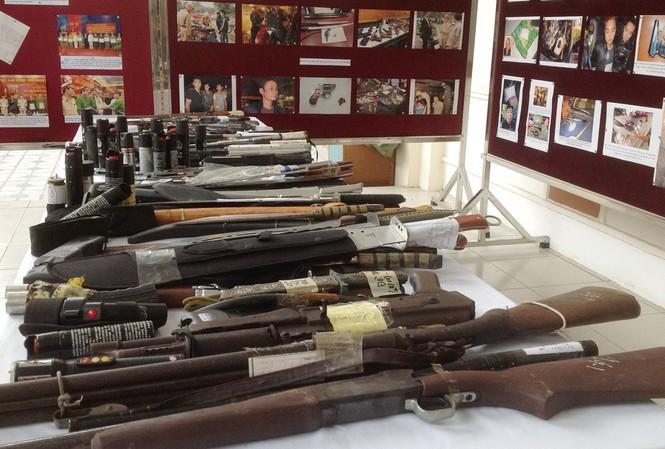 Vũ khí, công cụ hỗ trợ do lực lượng 141 thu giữ