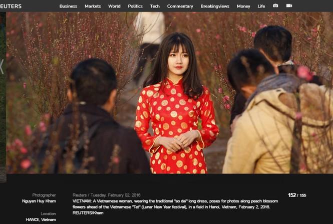 Hình ảnh của Kiều Trinh xuất hiện trên Reuters.