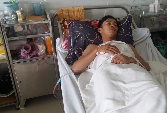Hiệp đang điều trị tại bệnh viện.