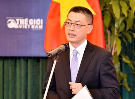 Ông Vũ Quang Minh, Trợ lý Bộ trưởng, kiêm Vụ trưởng Vụ Tổng hợp Kinh tế, Bộ Ngoại giao - Nguyên Đại sứ Đặc mệnh Toàn quyền Việt Nam tại Anh Quốc.