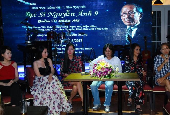 """Nhạc sỹ Nguyễn Quang và các các ca sỹ sẽ tham gia đêm nhạc """"Buồn ơi chào mi""""."""