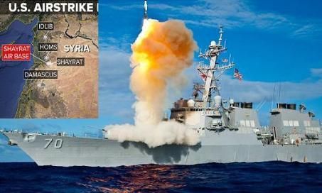 Mỹ đã phóng 59 quả tên lửa Tomahawk vào sân bay Shaayrat của Syria.