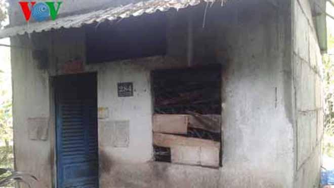 Căn nhà nhỏ nơi bà lão sinh sống.