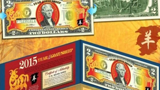 Tờ 2 USD in hình dê đang có giá lên tới 500.000 đồng.