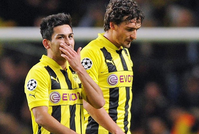 Bộ đôi Ilkay Gundogan và Mats Hummels.