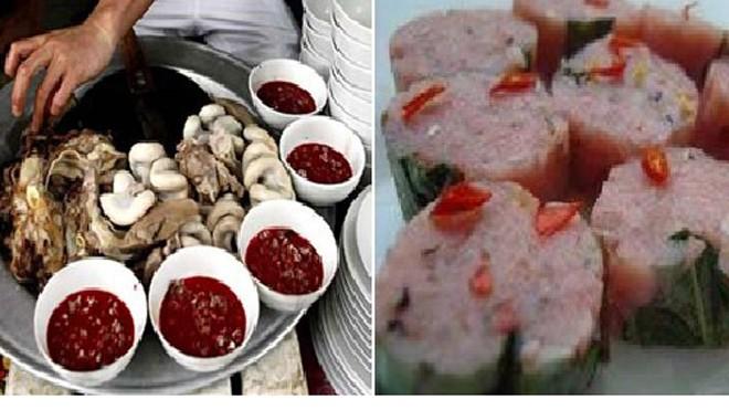 Một số món ăn có thể gây nhiễm ấu trùng sán gạo heo - Ảnh: Bác sĩ cung cấp.