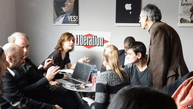 Nhân sự chủ chốt còn lại của tờ Charlie Hebdo - Ảnh: BBC