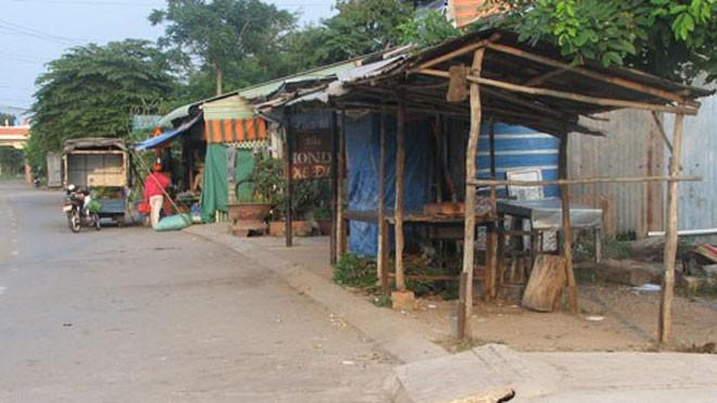 Khu chợ Nhựt Tảo, nơi được cho có rất nhiều người trúng số độc đắc - Ảnh: Lệ Văn