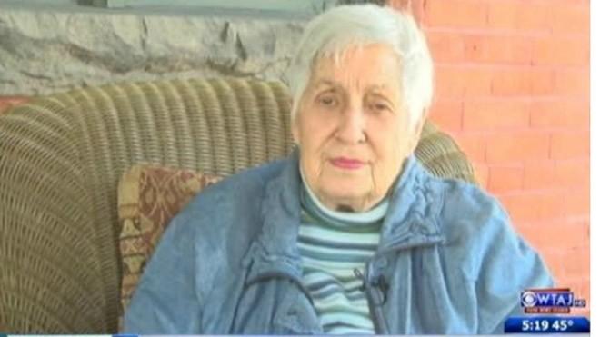 Bà Carol Stevens trong một chương trình truyền hình trước lễ sinh nhật lần thứ 90 của mình. Ảnh: Wearecentralpa.com.