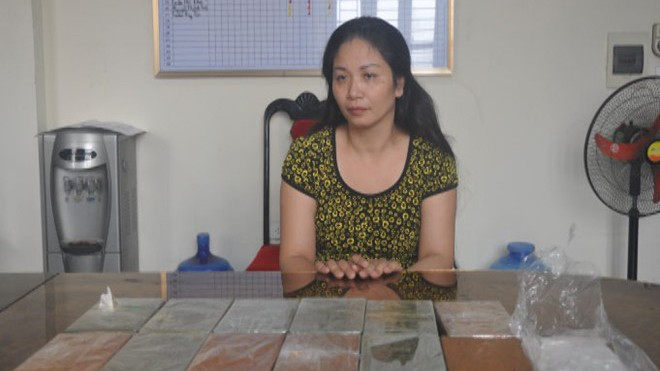 Bà trùm Mai Quỳnh Tho tại cơ quan điều tra.