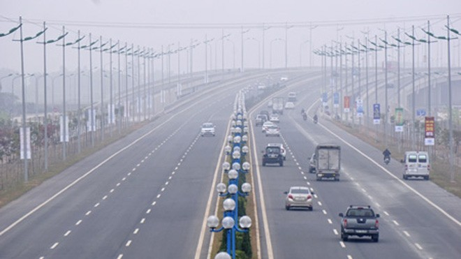 Sẽ có nhiều thay đổi trong phương án phân luồng tuyến đường Nhật Tân - Nội Bài (Ảnh: Hữu Nghị)
