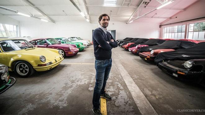 Manfred Hering và những chiếc Porsche mà anh phục chế.