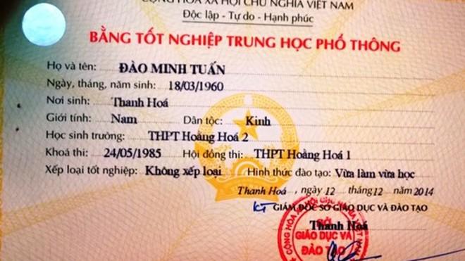 Chủ tịch xã phân trần vì có 2 tên, 2 bằng tốt nghiệp THPT