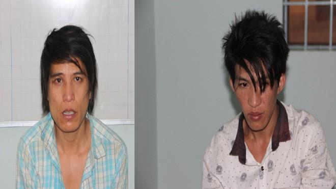 Hai đối tượng Nghĩa và Tuân bị bắt giữ khi chuẩn bị mang xe sang Campuchia tiêu thụ