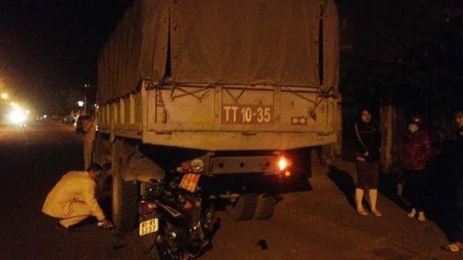 Hiện trường vụ tai nạn làm chị Nguyễn Thị Tường Linh tử vong.