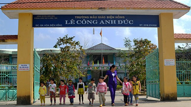 Ngôi trường mầm non gắn với câu chuyện cảm động về Lê Công Anh Đức. Ảnh: Nguyễn Dương.
