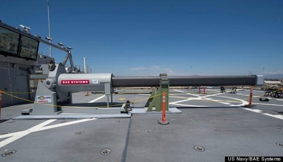 Pháo điện từ của Hải quân Mỹ. Ảnh: BEA Systems