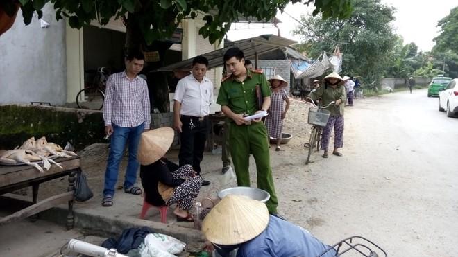 Công an huyện Quỳnh Lưu điều tra vụ việc.