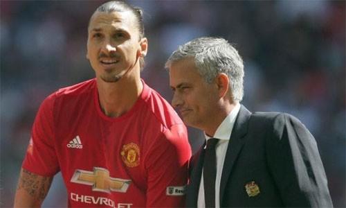 Ibrahimovic đến Man Utd vì Mourinho. Ảnh: Reuters.