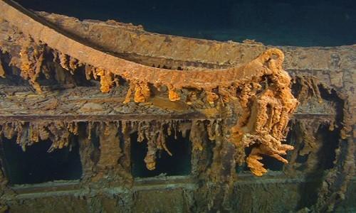 Xác tàu Titanic chụp vào tháng 8/2010. Ảnh: AP.