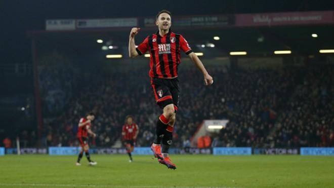 Bàn thắng của Pugh giúp Bournemouth duy trì phong độ ấn tượng gần đây. Ảnh: Reuters.