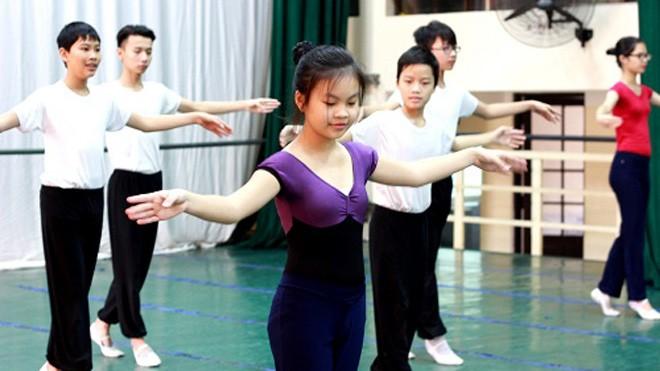 Có những lớp ở trường Múa, 100% học sinh không đến từ Hà Nội. Ảnh: Thanh Tâm