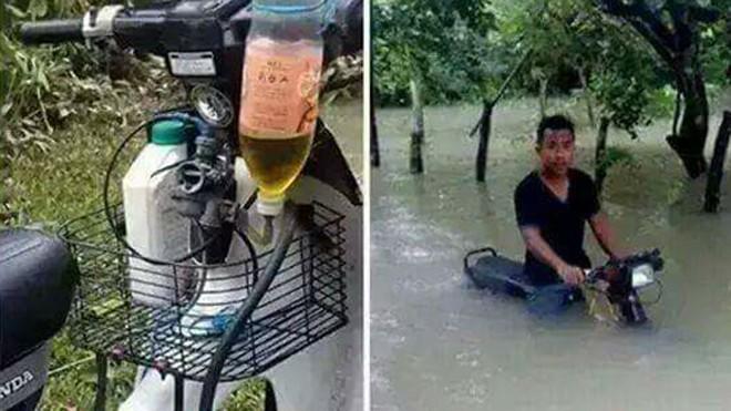 Mẫu xe chế đặc biệt để lội nước