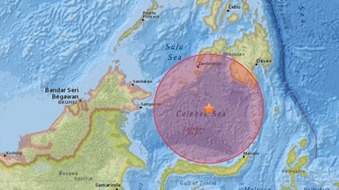 Vị trí tâm chấn trận động đất mạnh 7,3 độ Richter. Đồ họa: USGS