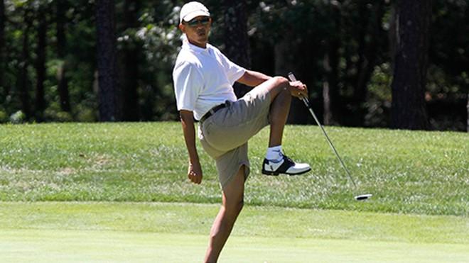Tổng thống Obama sẽ có nhiều thời gian chơi golf hơn sau khi nghỉ hưu. Ảnh: Washington Times